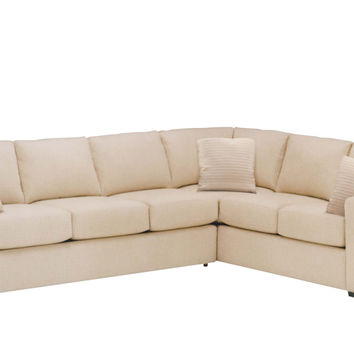 Fabric True 3 Cushion Sectional with Queen Sleeper Sofa