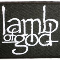"LAMB OF GOD Logo Iron On Band Patch 2.6""/7cm x 2.1""/5.5cm By MNC Shop"