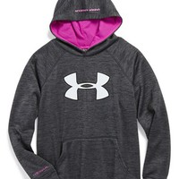 Boy's Under Armour 'Big Logo - Storm' Hoodie