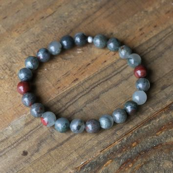 Men's Bloodstone Bracelet