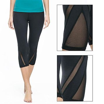 Slim Silky Mesh Leggings.  This quick dry breathable tights will look great on you.