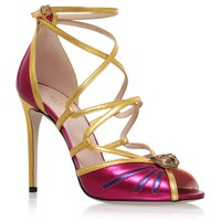 Gucci Bette Tiger Sandals 105 Pink | Harrods