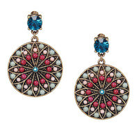 Colorful Jewel Drop Earrings