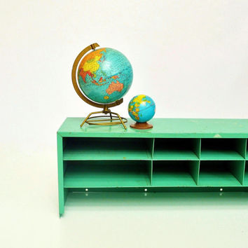 Industrial Parts Cabinet - Mint Green Storage Cabinet with Drawers