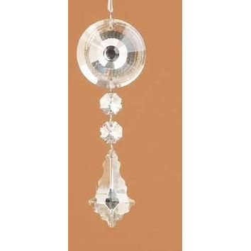 "5.5"" Clear Glass Dangling Pendant Christmas Ornament"