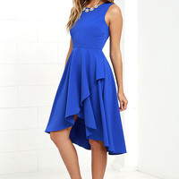 Chance to Dance Royal Blue High-Low Dress