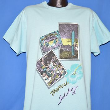 80s Tropical Holiday Hawaiian Postcards t-shirt Extra Large