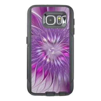 Pink Flower Passion Abstract Fractal Art OtterBox Samsung Galaxy S6 Case