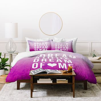 Leah Flores Dream Pink Duvet Cover