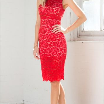Hypnotise You Dress in Red Lace