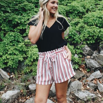 The Haley Striped Shorts