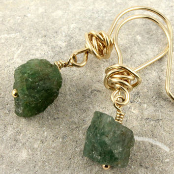 Emerald Green Earrings in 14K Gold Filled or by LiansElegance