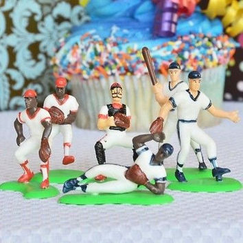 Baseball Team Cake Topper 6 Ball Players