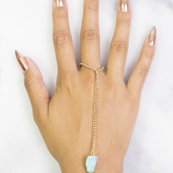 Teal Stone Ringcelet