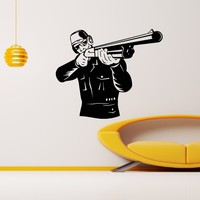 Wall Decal Vinyl Sticker Hunter Weapon Military Decor Sb438
