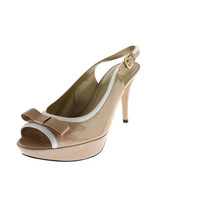 Stuart Weitzman Womens Ginger Patent Leather Colorblock Open-Toe Heels