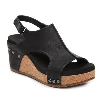 "Corky's Wedge ""Carley"" in Black"