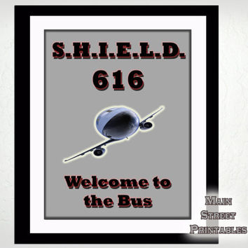 Agents of S.H.I.E.L.D., The Bus, Marvel, Command Center, Coulson, 8 X 10 Print Wall Art Decor Poster, INSTANT DOWNLOAD
