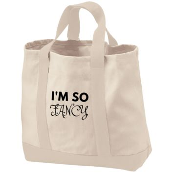 I'm So Fancy 2-Tone Shopping Tote
