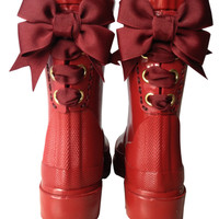 Burgundy Timber & Tamber French Bow Boot
