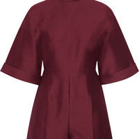 Cotton and silk-blend playsuit | Valentino | US | THE OUTNET