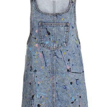 **Paint Splatter Pinafore Dress by Glamorous Petites - New In