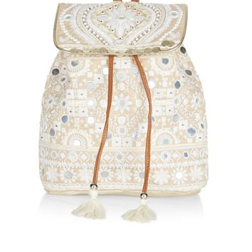 Eva Mirror Backpack | White | Accessorize