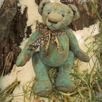 Big sale! Vintage Teddy Bear 7.9 inches Free shipping Old teddy bear OOAK teddy bear Gift for her Interior Stuffed bear Bears Gift for man