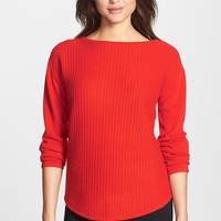 Nordstrom Collection Textured Stitch Cashmere Boatneck Sweater | Nordstrom