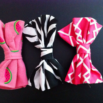 Set of 3 3-Inch Bows - Pink