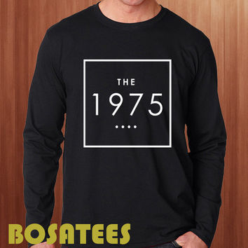The 1975 Shirt The 1975 Band Long Sleeve Printed Black and White Color Unisex Size (BS-61)