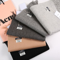 ACNE Studios Echarpe Luxury Brand Scarf Unisex 2016 Female Male Canada Wool Cashmere Scarf Pashmina Tassels Women Men Wrap Warm