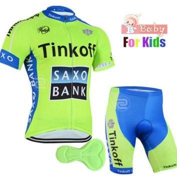 2018 Pro Team Summer Cycling Jersey Set for Kids Ropa Ciclismo Cycling Clothing Set Children Breathable boys girls MTB Bike Suit