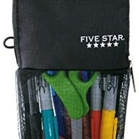 Mead Stand 'N Store Five Star Pencil Pouch | Black