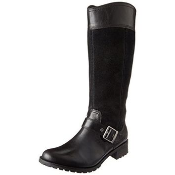 Timberland Womens EK Bethel Leather Stacked Heel Riding Boots