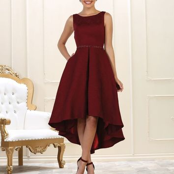 Prom High Low Formal Plus Size Dress