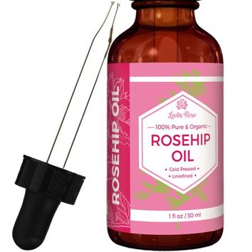 Leven Rose Organic Unrefined Rosehip Oil for Healthier Hair and Softer Skin - 1 oz - Walmart.com