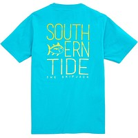 Vibrant Skipjack Tee Shirt in Scuba Blue by Southern Tide - FINAL SALE