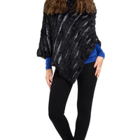 Knitted Fur Poncho
