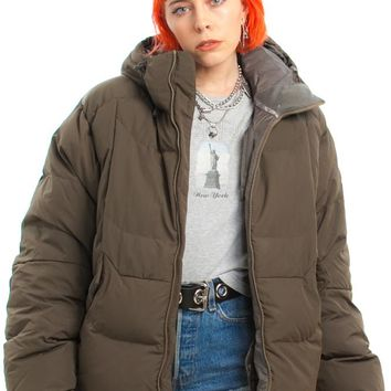 Vintage Y2K Army Puffy Jacket - One Size Fits Many