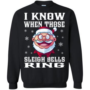 sleigh bells ring ugly christmas sweaters T-Shirt