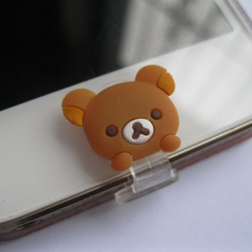 Home Button and Lightning Data Port 2 in 1 Teddy Bear .For iPhone 4 4S 5 5C 5S iPad 4 Mini ect.