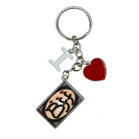 BFF Best Friends Forever Love Hearts I Heart Love Keychain