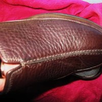 COLE HAAN NIKE AIR SHOES RUSTY BROWN LEATHER SLIDES!SIZE 7.5 B/38!