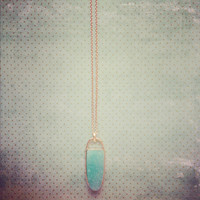 Pree Brulee - Arrow Mint Druzy Necklace
