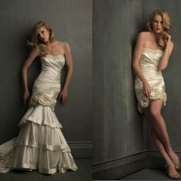 Allure Bridals 8700 Mermaid Wedding Dress Detachable Skirt
