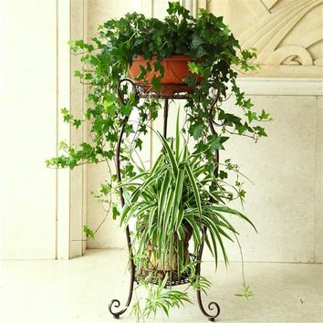 Pour Plante Outdoor Decor Decorer Rek Metal Planten Standaard Decoration Exterieur Balkon Balcon Flower Shelf Stand Plant Rack