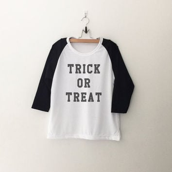 Tick or Treat Halloween sweatshirt T-Shirt womens girls teens unisex grunge tumblr instagram blogger punk hipster outfits gifts merch
