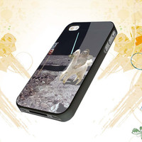 Sloth Llama Lasers on Moon  For iphone 4,4s,5,samsung galaxy s3 i9300,and s4 i9500