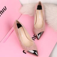 High Heel Leather Shoes [4920335364]